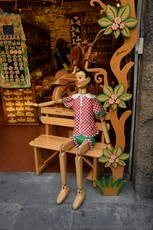 Bartolucci Life Size Pinnochio Sitting on Bench in Florence.jpg