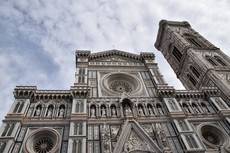 Upper levels of Florence Cathedral with Tower.jpg
