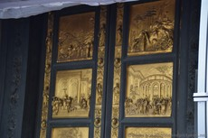 Upper Panels of a Bronze door of Baptistery of St. John in Florence.jpg